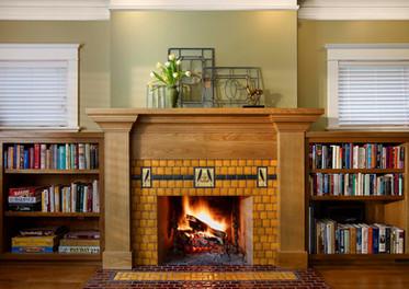 Motawi Tileworks fireplace surround.JPG