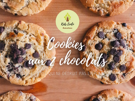 [Recette qui ne détruit pas la planète] Les Cookies aux 2 chocolats !