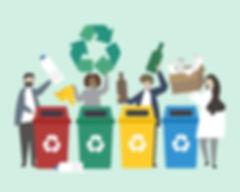gens-tri-ordures-dans-corbeille-illustra