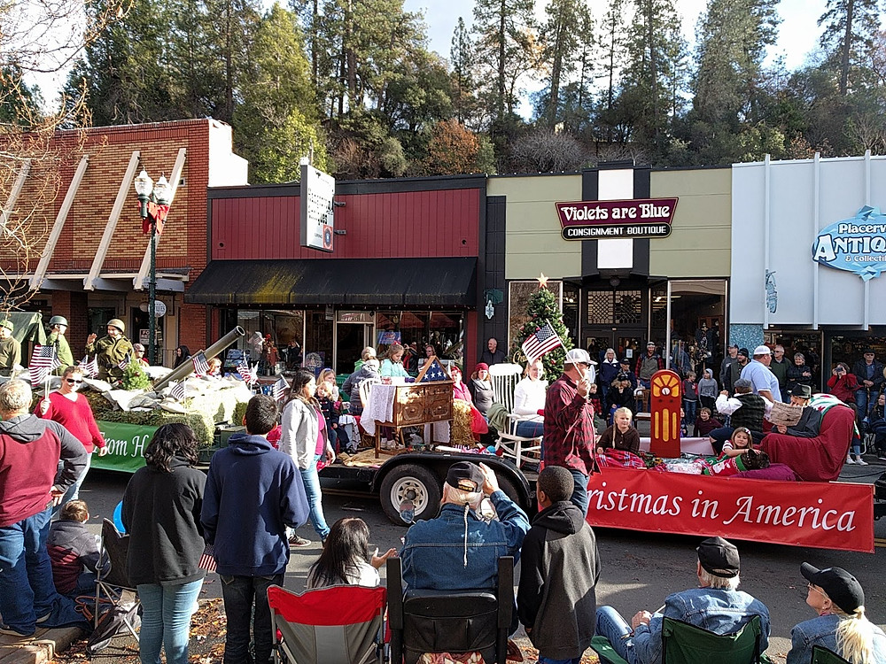 Christmas Parade Placerville, CA Dec 2018