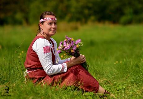 Ľudmila v Slovienskom kroji