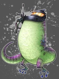 Paintball gecko copy