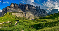 Dolomity - Gardena Pass