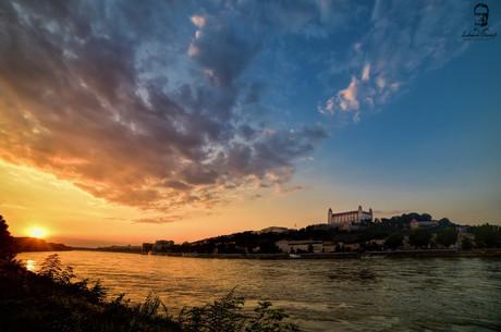 Západ slnka pri Dunaji - Bratislava