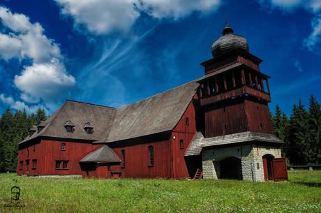 Drevený kostol Svätý Kríž - Lazisko - Liptov
