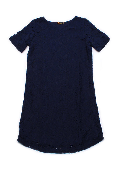 Floral Lace Shift Dress NAVY (Ladies' Dress)