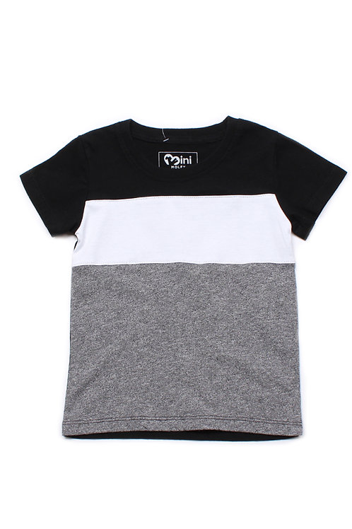 Colour Block T-Shirt BLACK (Boy's T-Shirt)