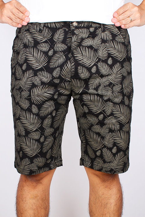 Botanical Print Bermudas BLACK (Men's Bottom)