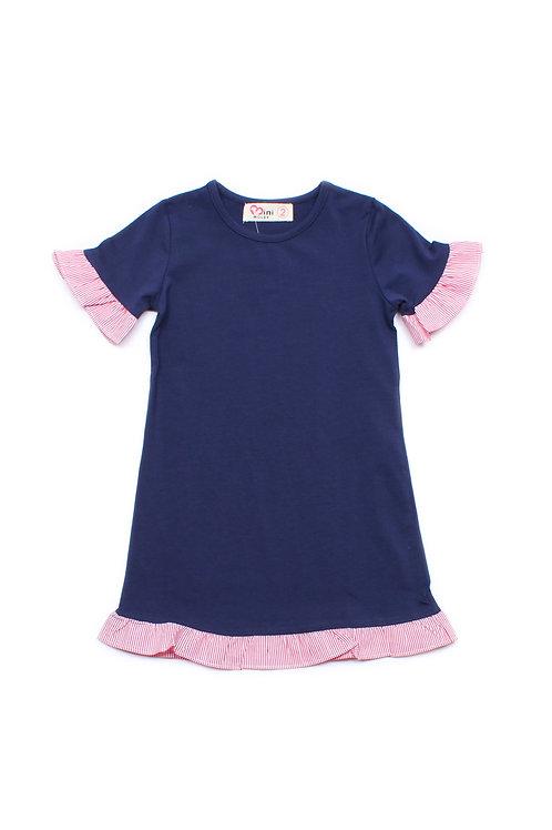 Frill Shift Dress NAVY (Girl's Dress)