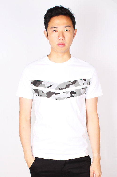 Camo Chevron T-Shirt WHITE (Men's T-Shirt)