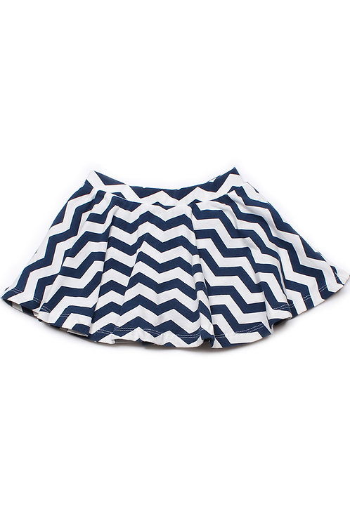 ZigZag Print Skirt NAVY (Girl's Bottom)