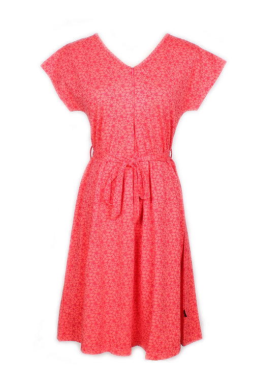 Floral Design Nursing Flare Dress PINK (Ladies' Dress)