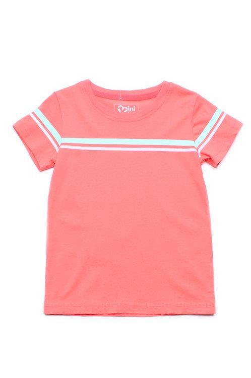 Pastel Twin Stripe T-Shirt PINK (Boy's T-Shirt)