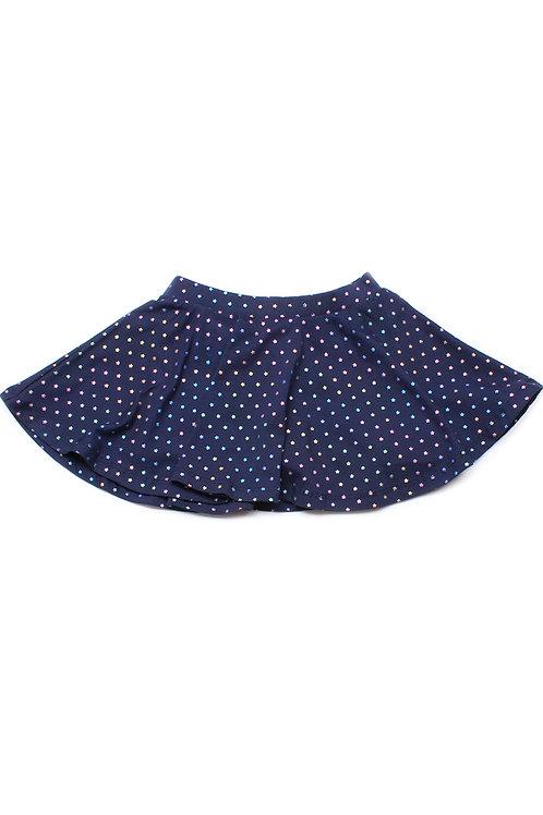 Rainbow Stars Print Skirt NAVY (Girl's Bottom)