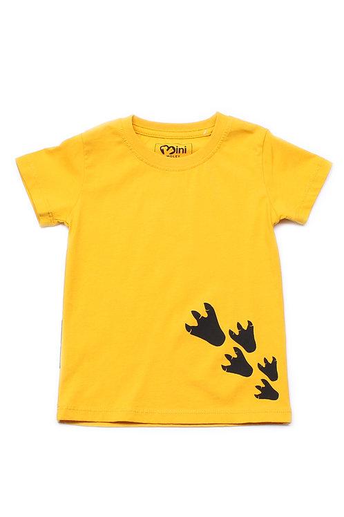 Dino Footprint T-Shirt YELLOW (Boy's T-Shirt)