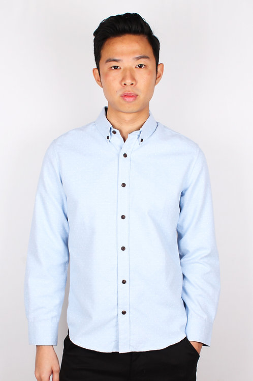 Polka Dot Long Sleeve Shirt BLUE (Men's Shirt)