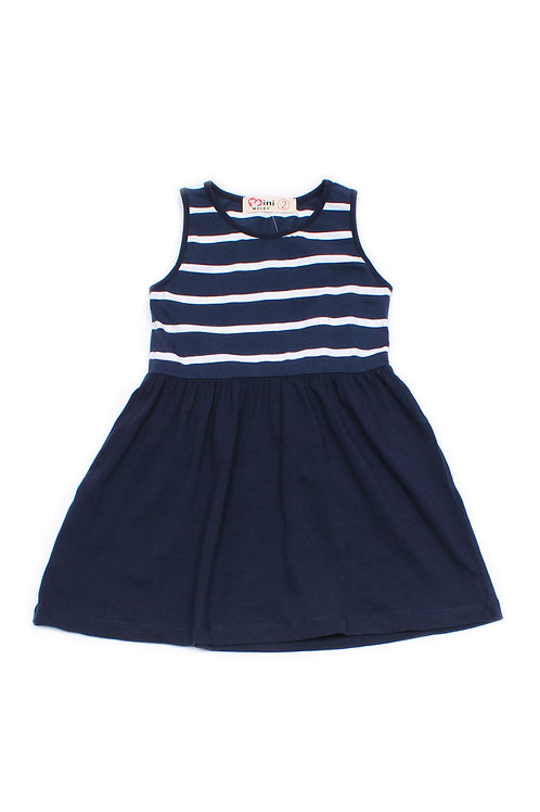 Stripe Dress NAVY (Girl's Dress)