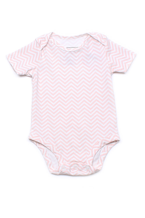 Zigzag Stripes Print Romper ORANGE (Baby Romper)