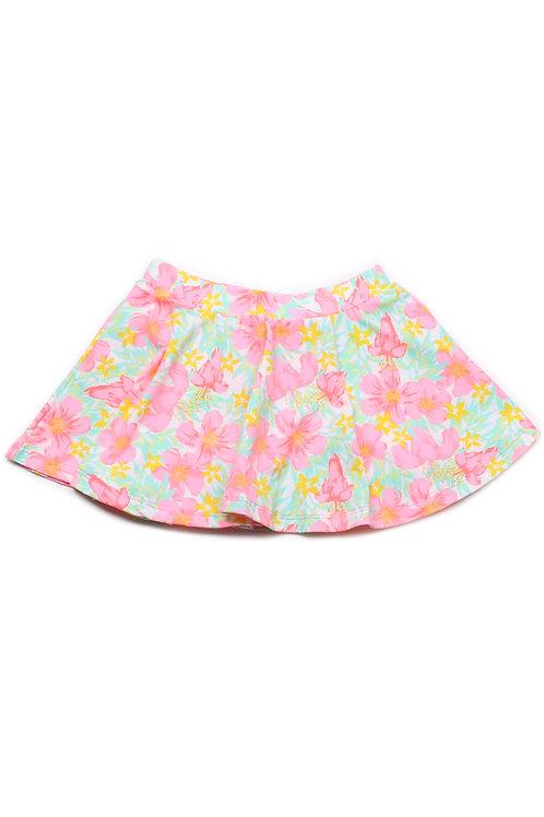Floral Print Skirt GREEN (Girl's Bottom)