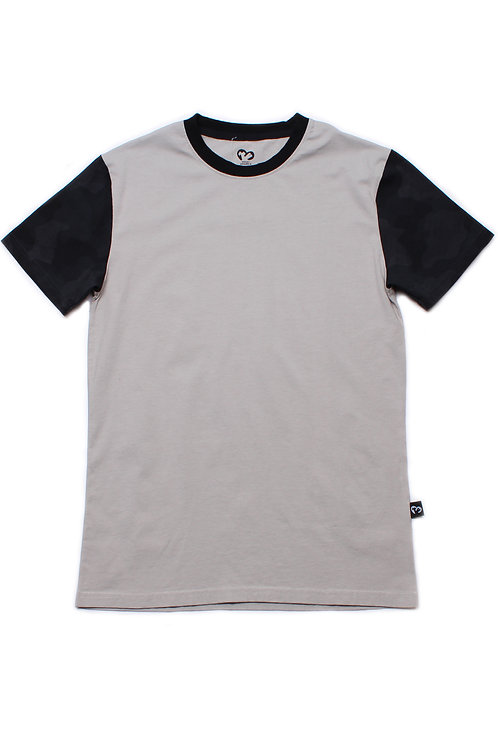 Back Camo Print Raglan T-Shirt GREY (Men's T-Shirt)