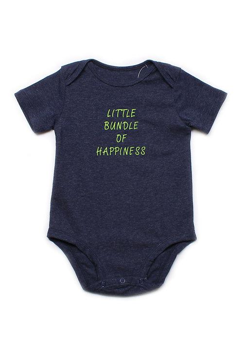 LITTLE BUNDLE OF HAPPINESS Romper NAVY (Baby Romper)