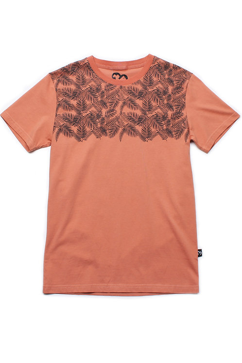 Botanical Print T-Shirt ORANGE (Men's T-Shirt)