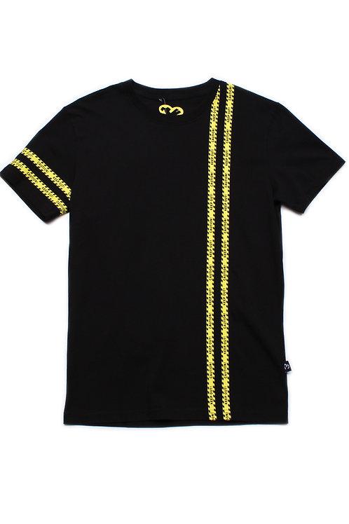 Caution Tape Print T-Shirt BLACK (Men's T-Shirt)