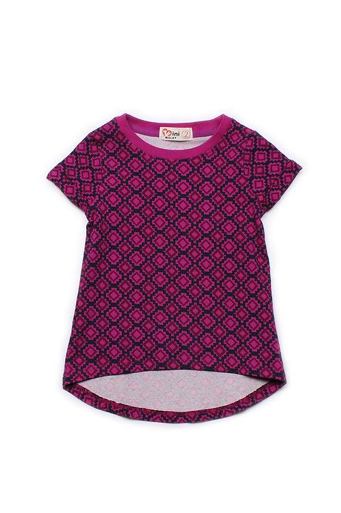 Design Print T-Shirt PURPLE (Girl's Top)