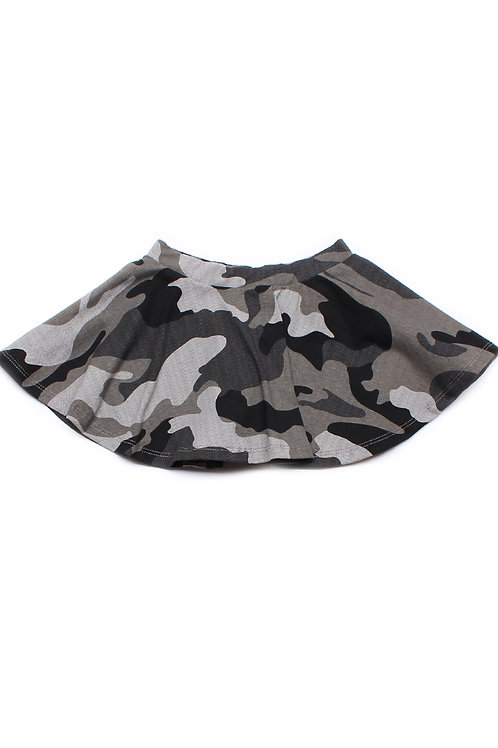 Camo Print Skirt GREY (Girl's Bottom)