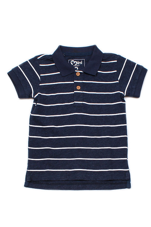 Striped Polo T-Shirt NAVY (Boy's T-Shirt)