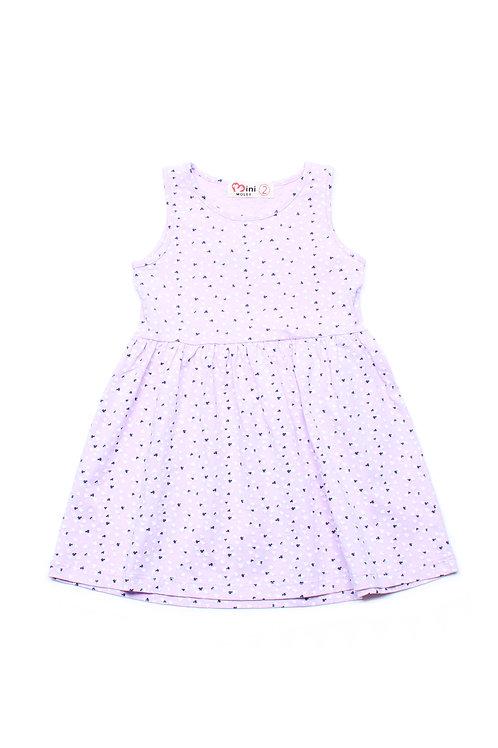 Design Print Dress PURPLE (Girl's Dress)