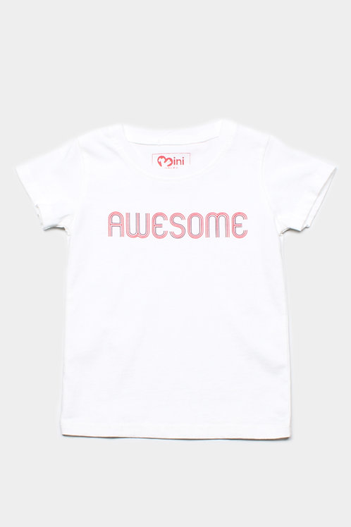 AWESOME T-Shirt WHITE (Boy's T-Shirt)