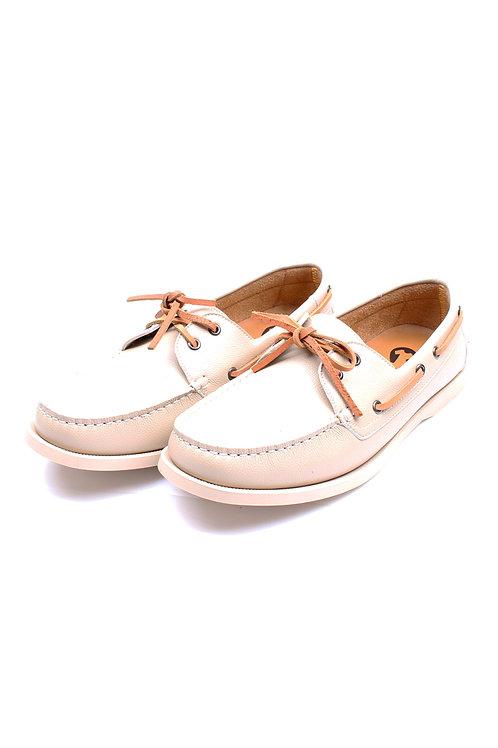 Premium Synthetic Leather Boat Shoe CREAM (Men's Shoes)