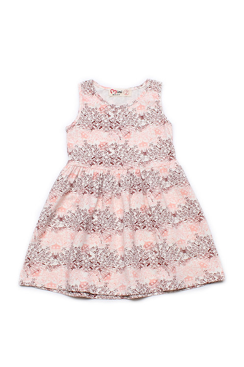Design Print Dress PINK (Girl's Dress)