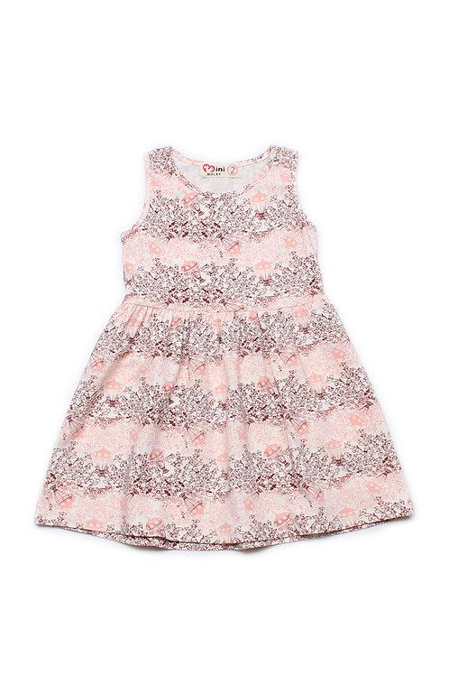 Design Print Dress PINK (Girl's Dress)