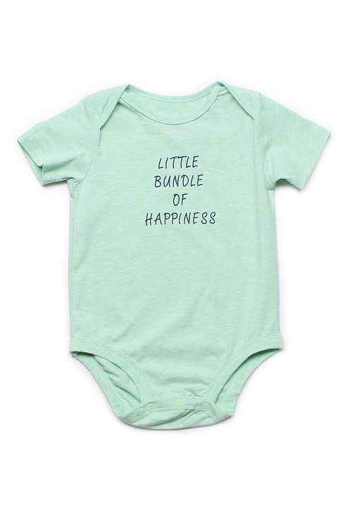 LITTLE BUNDLE OF HAPPINESS Romper CYAN (Baby Romper)