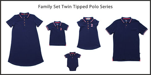 Twin tipped polo series collage navy upd