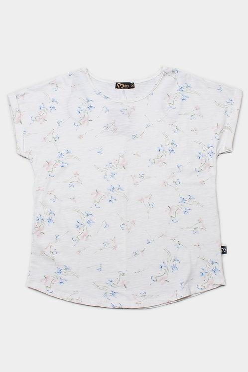 Floral Print Blouse WHITE (Ladies' Top)