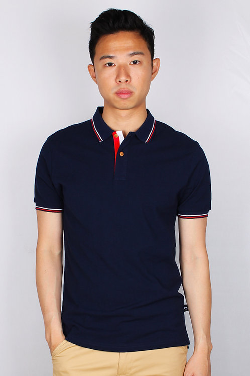 Twin Tipped Polo T-Shirt NAVY (Men's Polo)