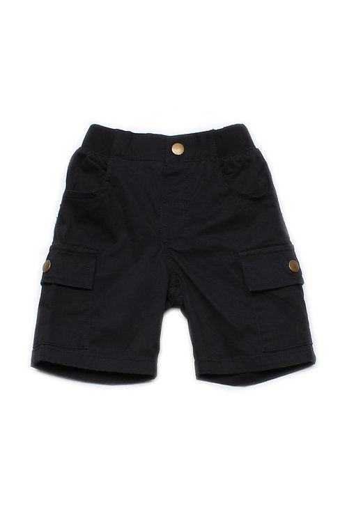 Cargo Shorts BLACK (Boy's Shorts)