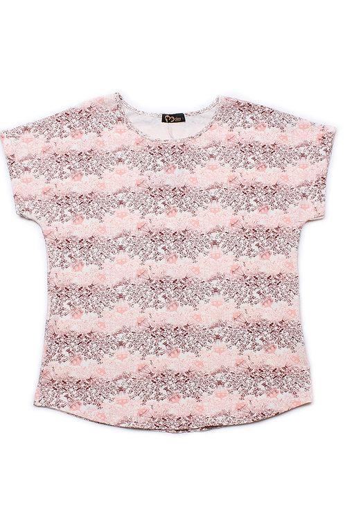 Design Print Blouse PINK (Ladies' Top)