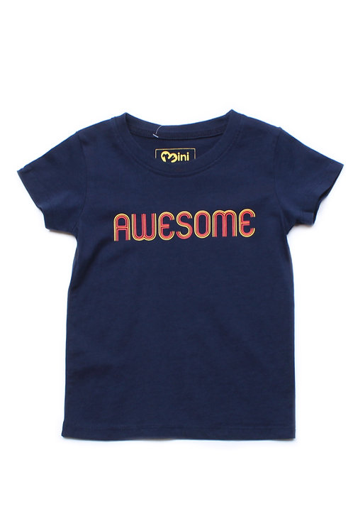 AWESOME T-Shirt NAVY (Boy's T-Shirt)