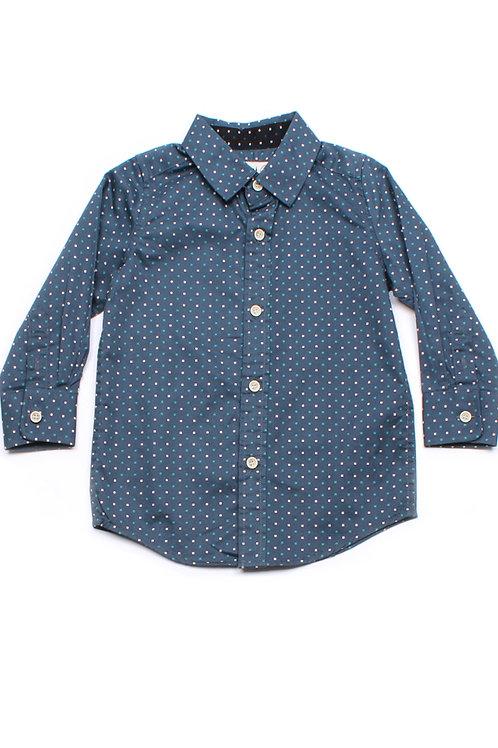 Digital Pixel Long Sleeve Shirt BLUE (Boy's Shirt)