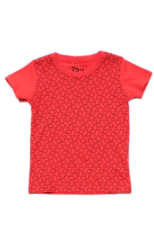 Fighter Plane Print T-Shirt RED (Boy's T-Shirt)