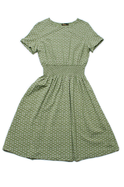 Design Print Skater Dress GREEN (Ladies' Dress)