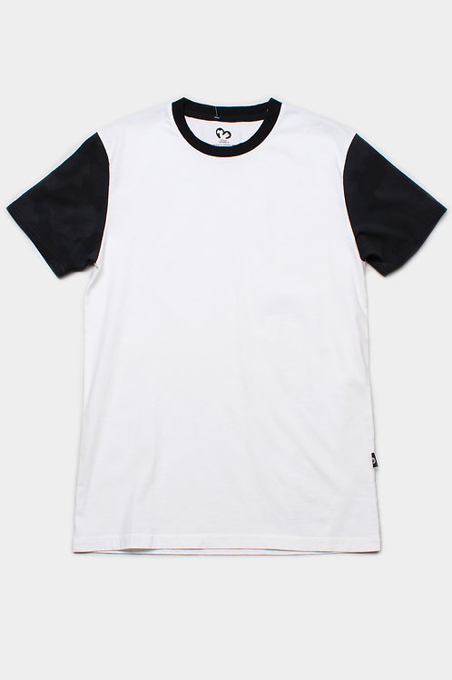 Back Camo Print Raglan T-Shirt WHITE (Men's T-Shirt)
