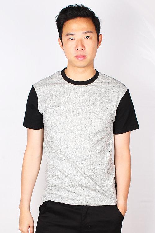 Two Tone Short Sleeve T-Shirt GREY (Men's T-Shirt)