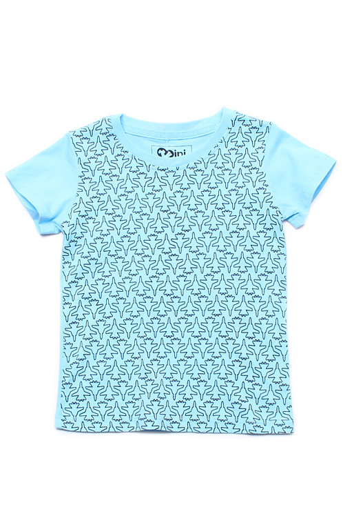 Fighter Plane Print T-Shirt BLUE (Boy's T-Shirt)