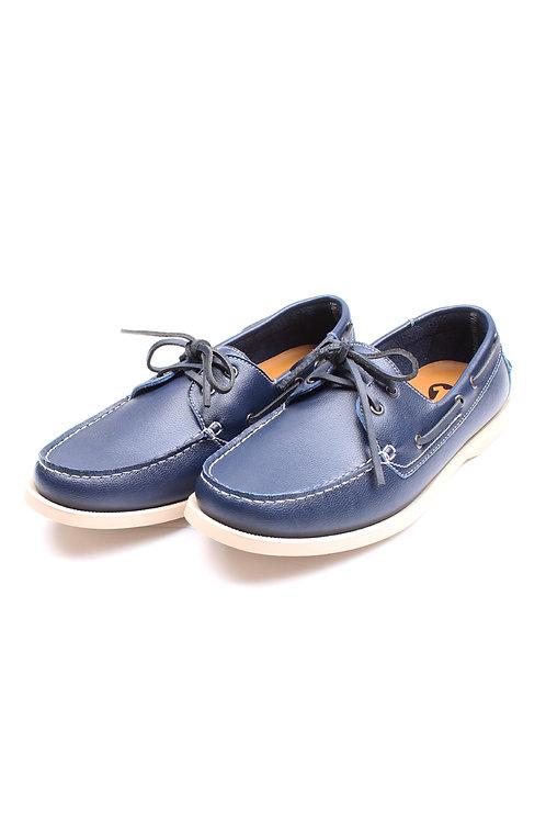 Premium Synthetic Leather Boat Shoe NAVY (Men's Shoes)