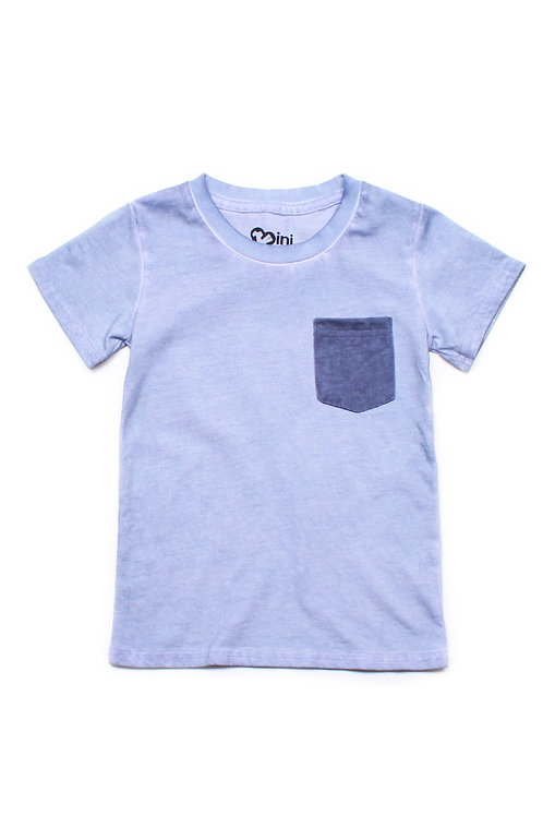 Faded Look Pocket T-Shirt BLUE (Boy's T-Shirt)